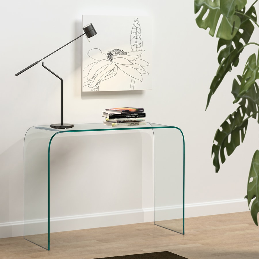 Zuo Modern Mecca Clear Rectangular Console Table