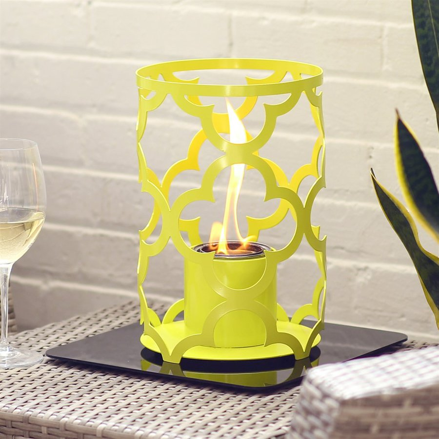 SunJel Mediterranean 15-in Sweet Lime Metal Fire Pot