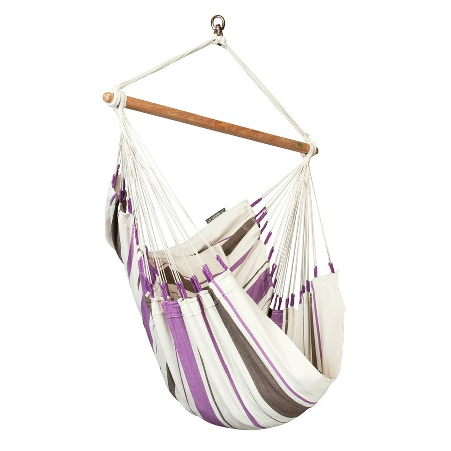 La Siesta Caribea Purple Fabric Hammock Chair