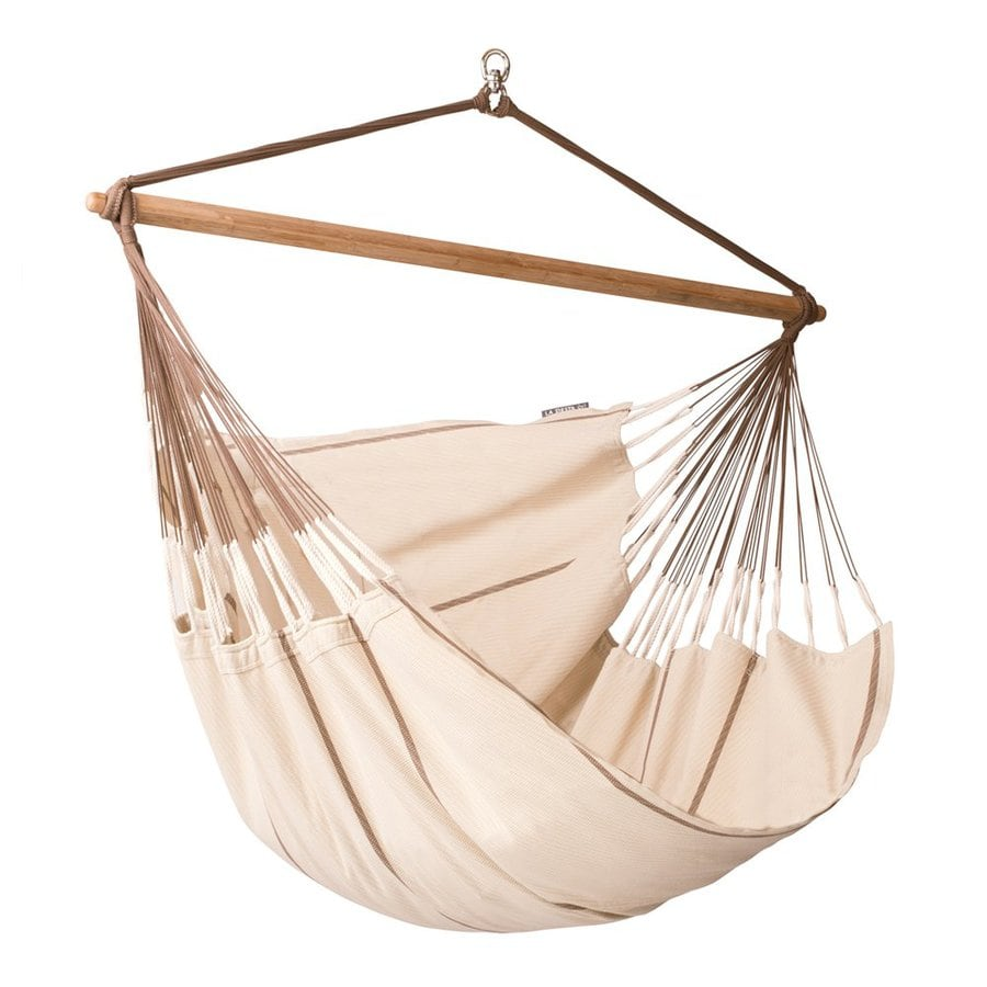 shop la siesta habana nougat fabric hammock chair at. Black Bedroom Furniture Sets. Home Design Ideas