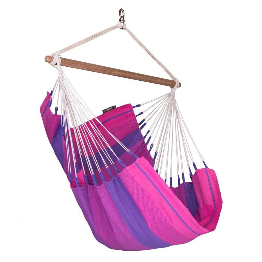 La Siesta Orquidea Purple Fabric Hammock Chair