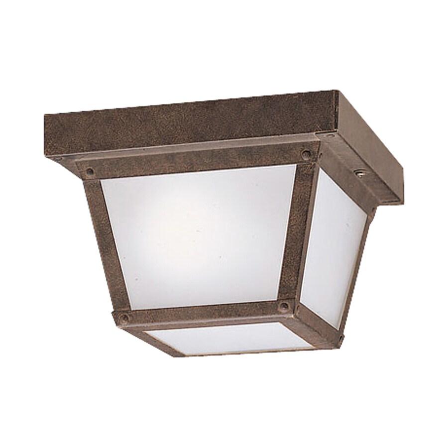 Kichler Lighting 12-Pack New Street 7.5-in W Tannery Bronze Outdoor Flush-Mount Light