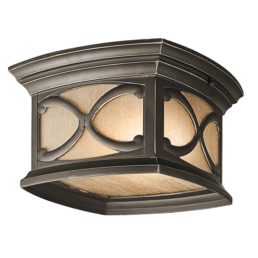 Kichler Franceasi 11-in W Olde Bronze Outdoor Flush-Mount Light