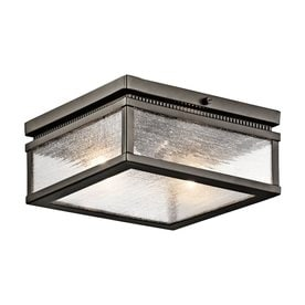 Outdoor Ceiling Light: Kichler Lighting Manningham 11.75-in W Olde Bronze Outdoor Flush-Mount Light,Lighting