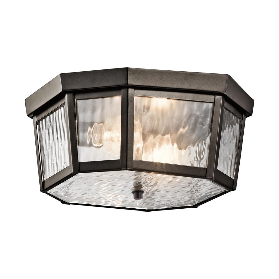 Kichler Lighting Rochdale 12-in W Olde Bronze Outdoor Flush-Mount Light