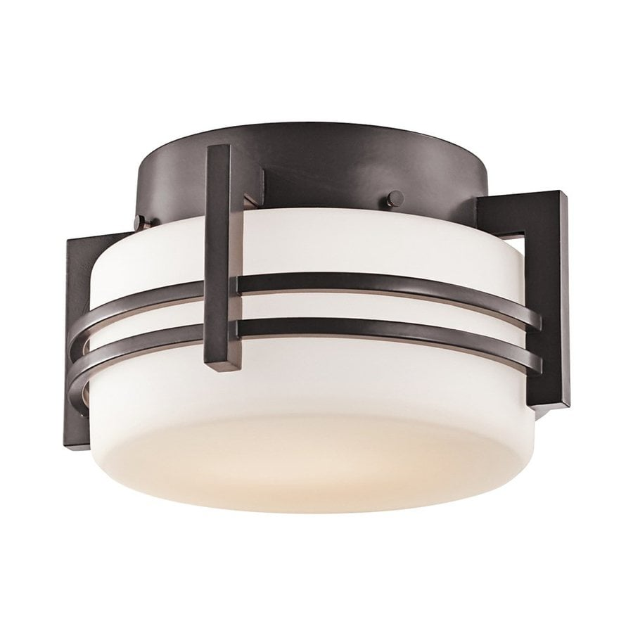 Kichler Lighting Pacific Edge 10.5-in W Architectural Bronze Outdoor Flush-Mount Light