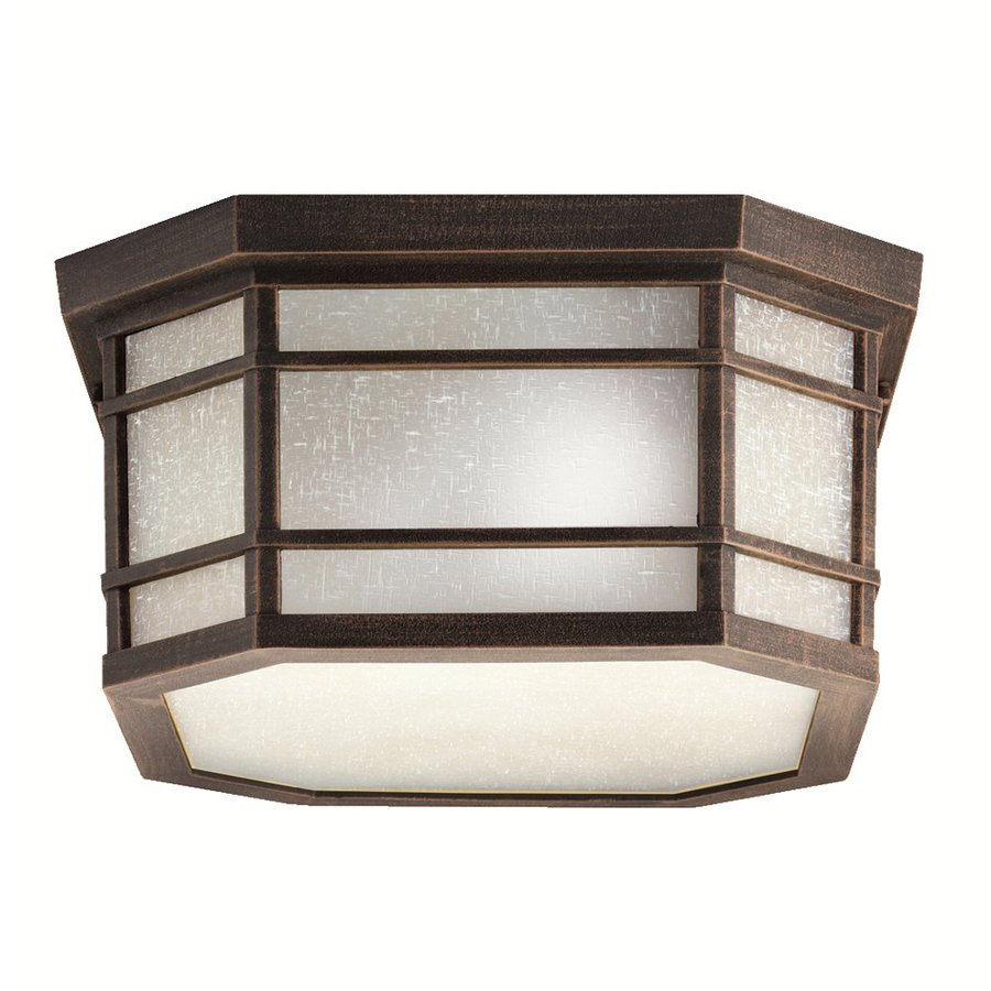 Kichler Cameron 13-in W Prairie Rock Outdoor Flush-Mount Light