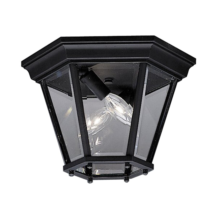 Kichler Madison 10.75-in W Black Outdoor Flush-Mount Light