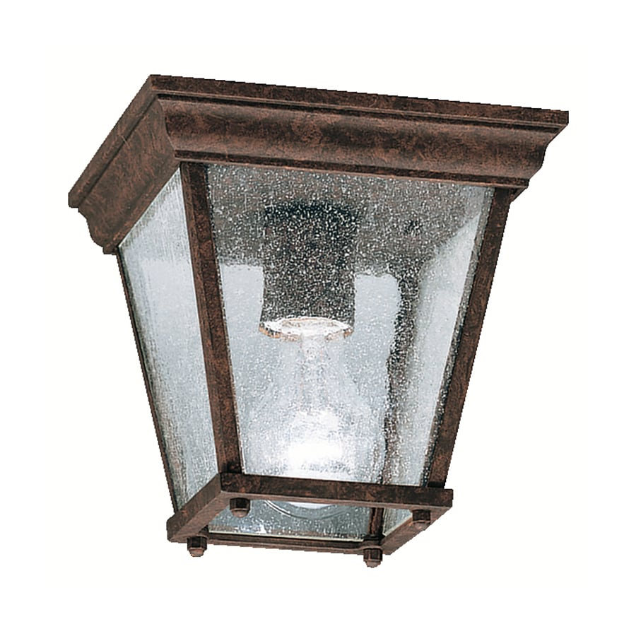 Kichler New Street 7.25-in W Tannery Bronze Outdoor Flush-Mount Light