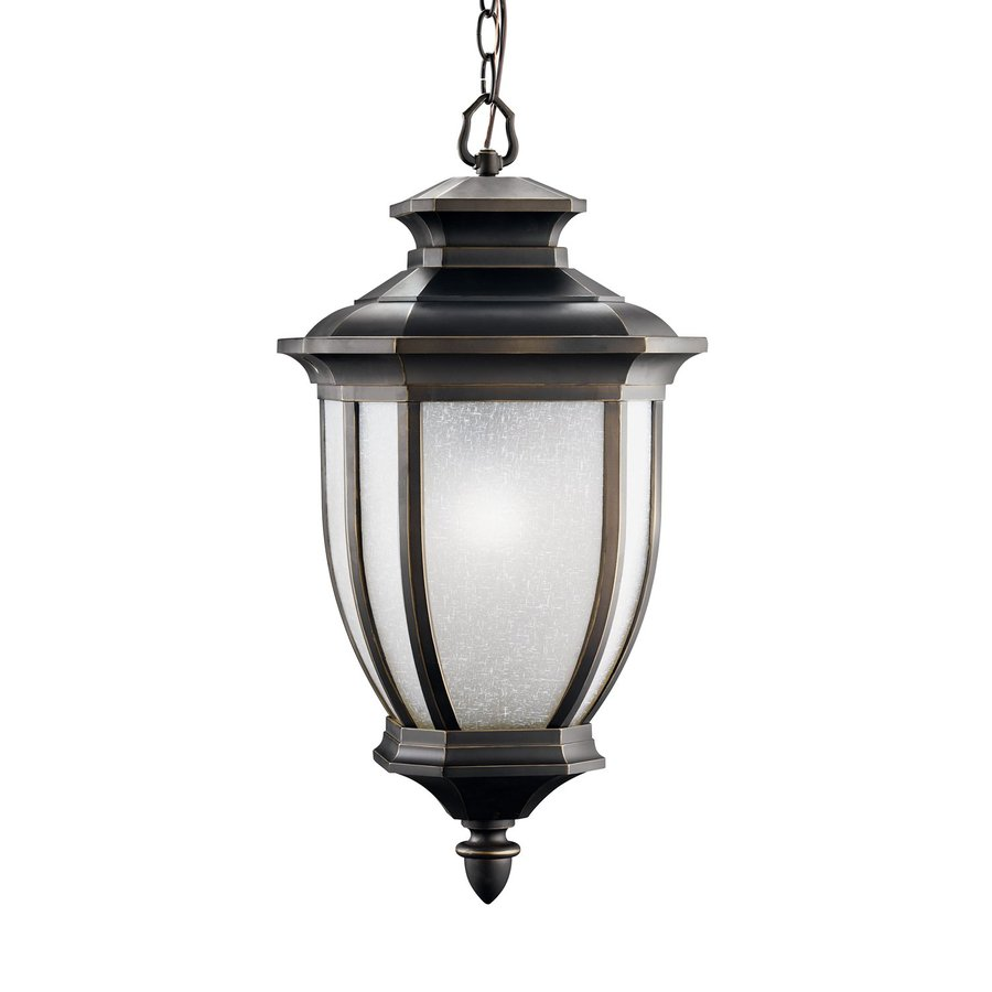 Kichler Lighting Salisbury 24.75-in Rubbed Bronze Outdoor Pendant Light