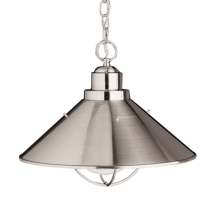seaside brushed nickel outdoor pendant light at. Black Bedroom Furniture Sets. Home Design Ideas