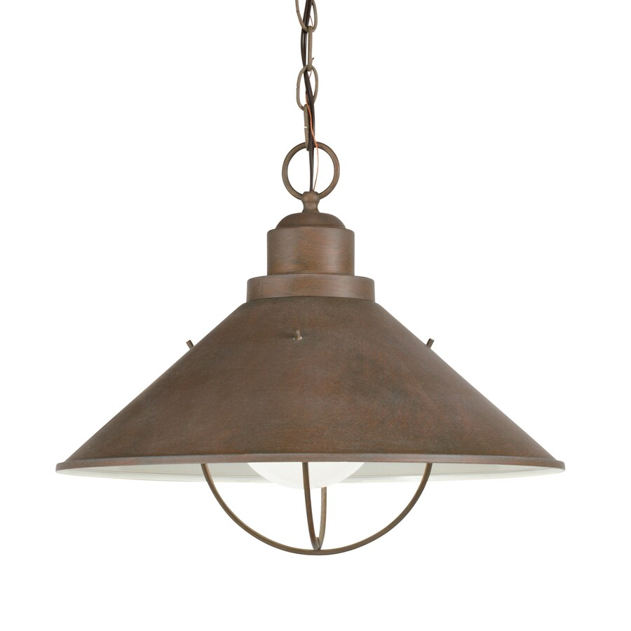Shop kichler seaside olde brick outdoor pendant for Hanging outdoor light fixtures