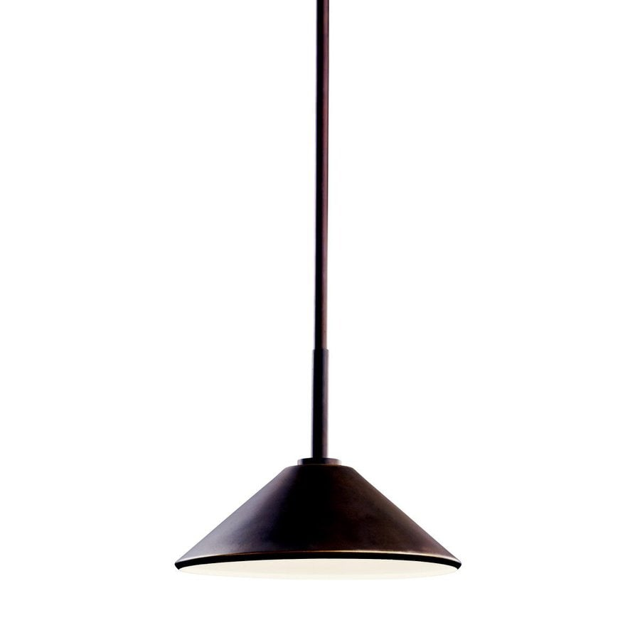 Shop Kichler Ripley 8 In Olde Bronze Outdoor Pendant Light At