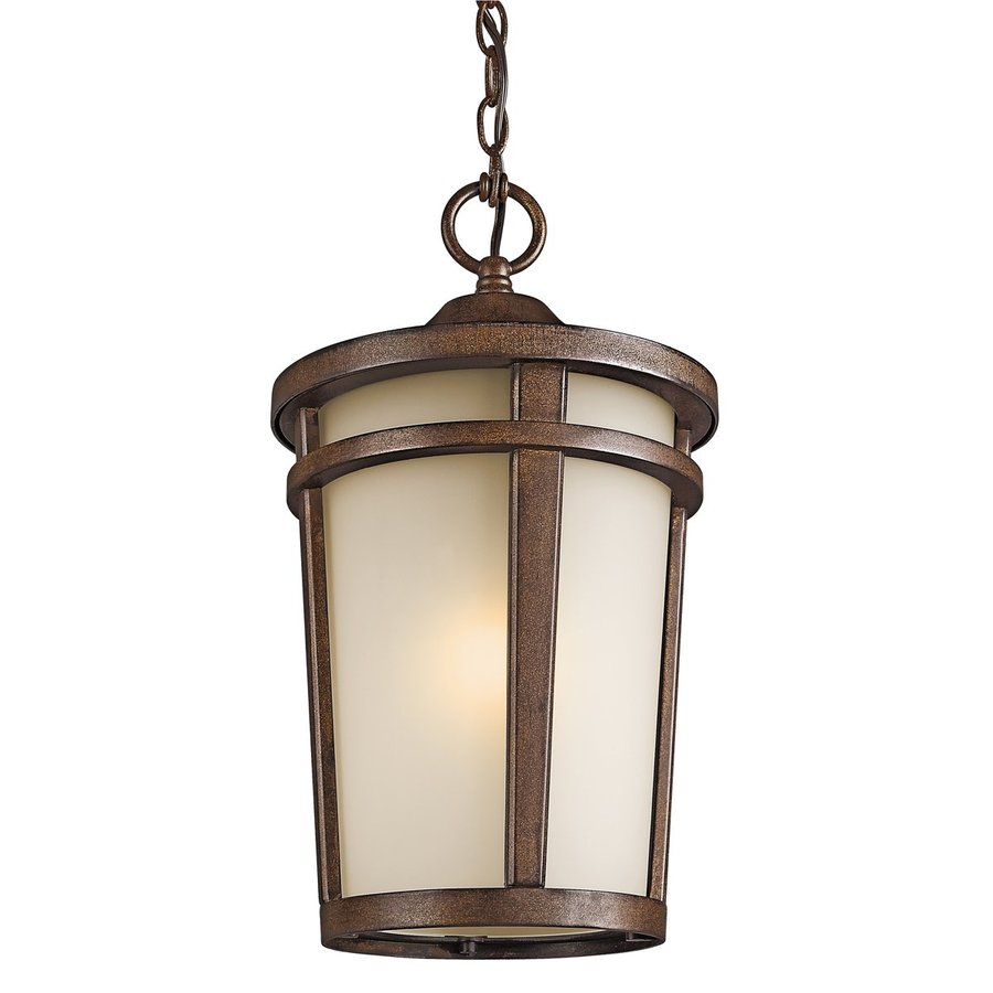 Kichler Lighting Atwood 17.75-in Brownstone Outdoor Pendant Light