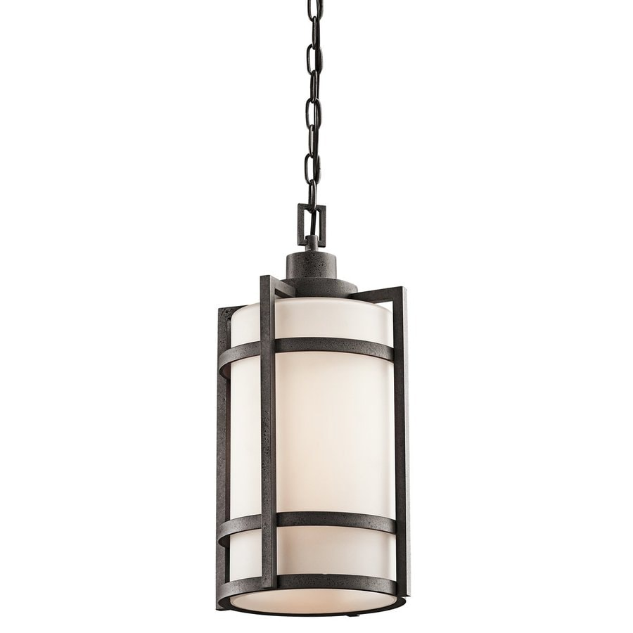 Shop Kichler Camden Anvil Iron Outdoor Pendant Light At