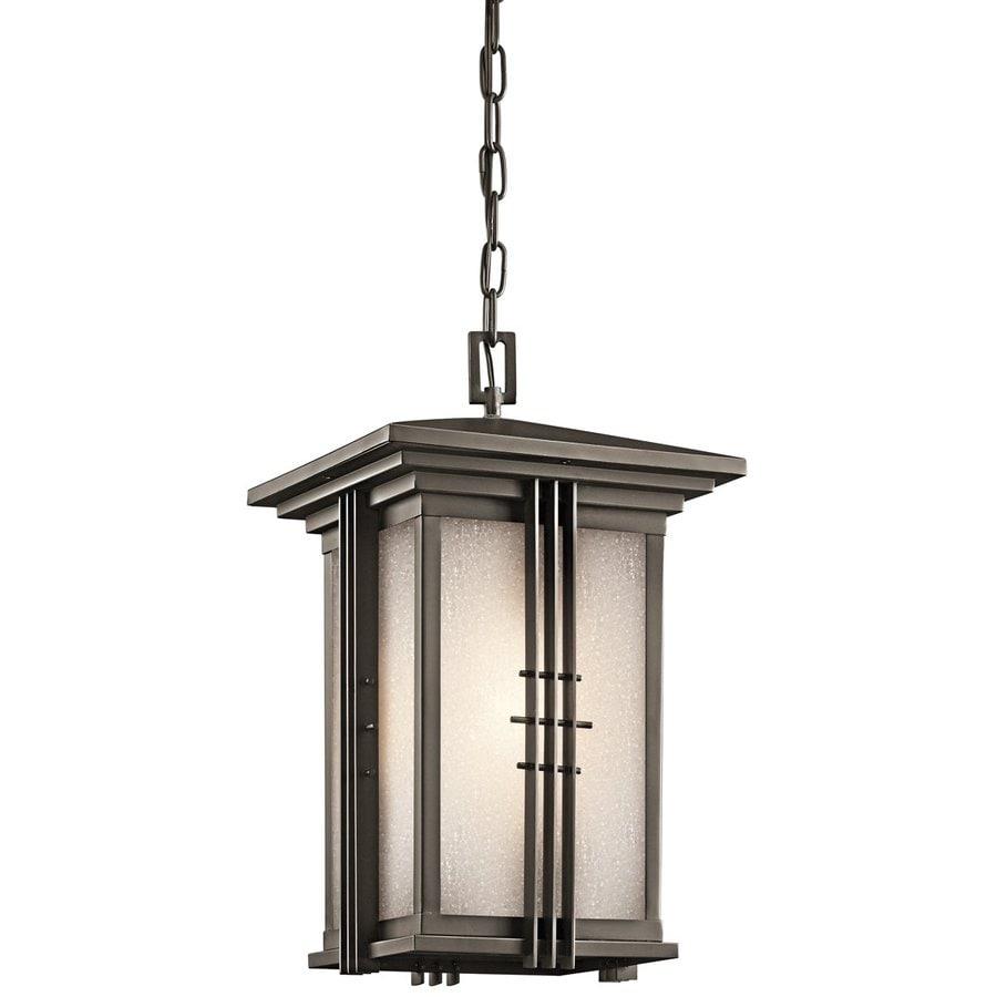 Kichler Lighting Portman Square 18.5-in Olde Bronze Outdoor Pendant Light