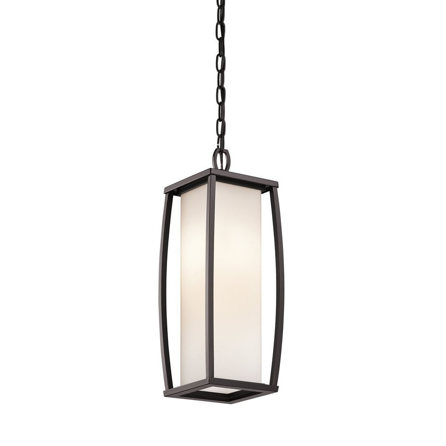 Kichler Bowen 20.25-in Architectural Bronze Outdoor Pendant Light