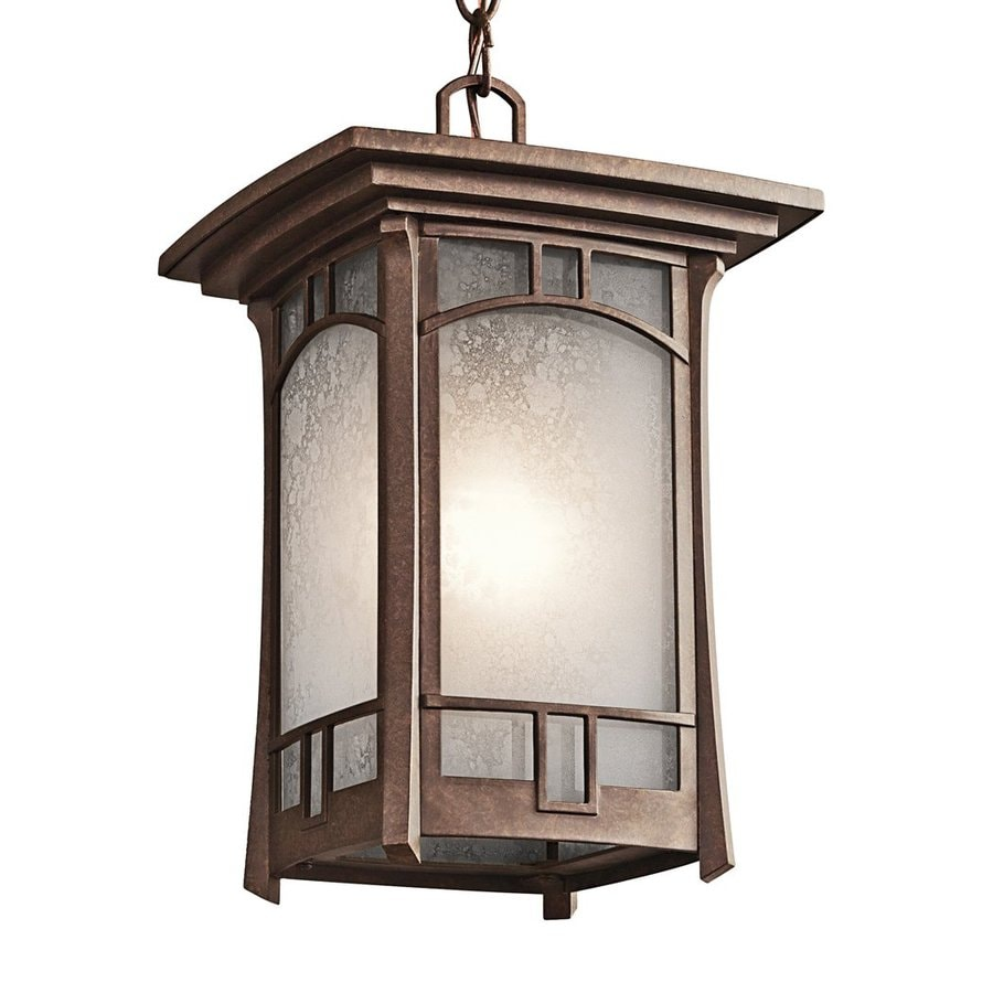 Kichler Soria 14-in Aged Bronze Outdoor Pendant Light