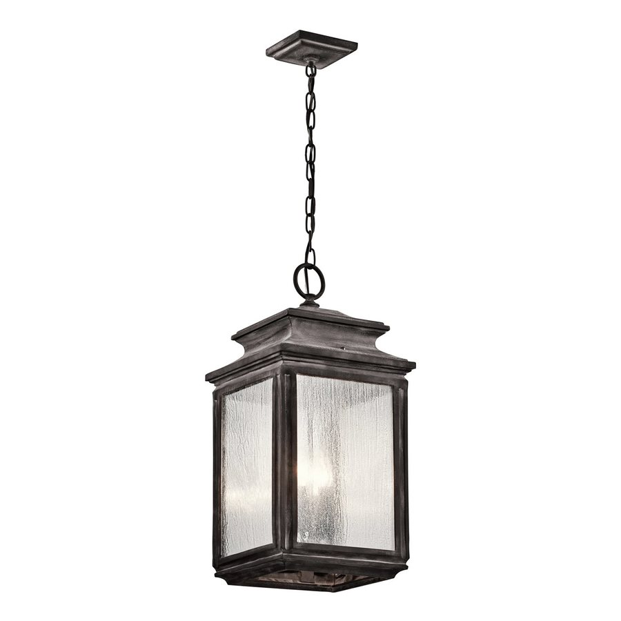 Kichler Lighting Wiscombe Park 23-in Weathered Zinc Outdoor Pendant Light