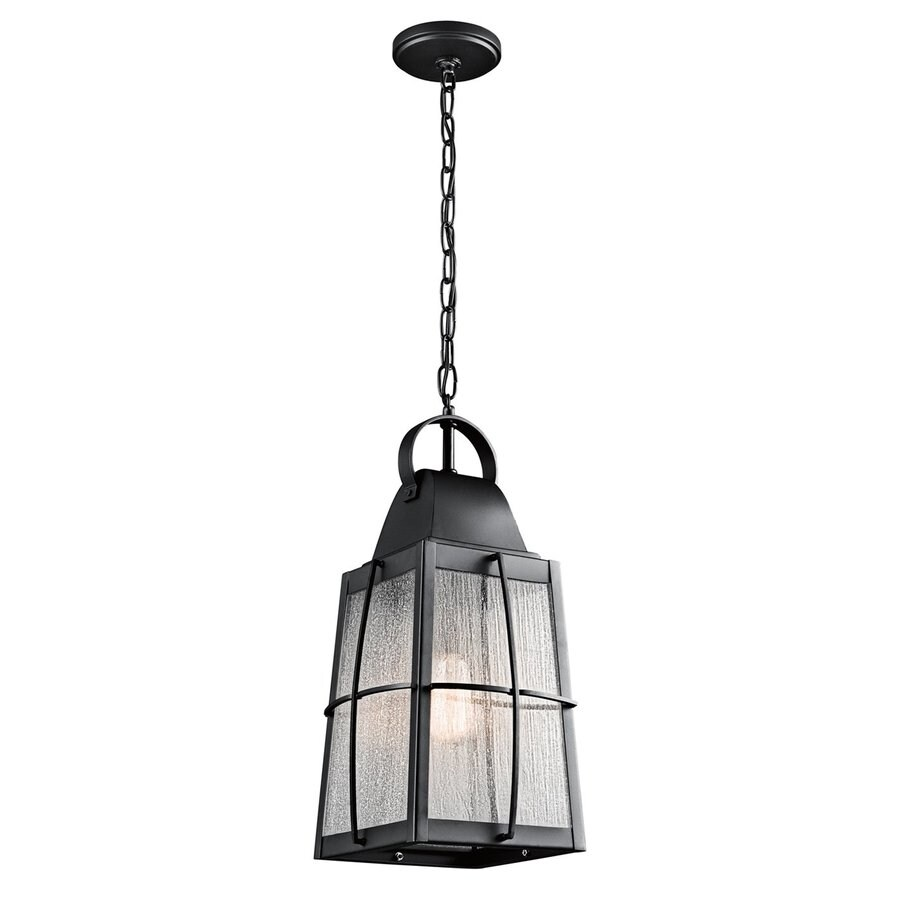 Kichler Tolerand 19.75-in Textured Black Outdoor Pendant Light