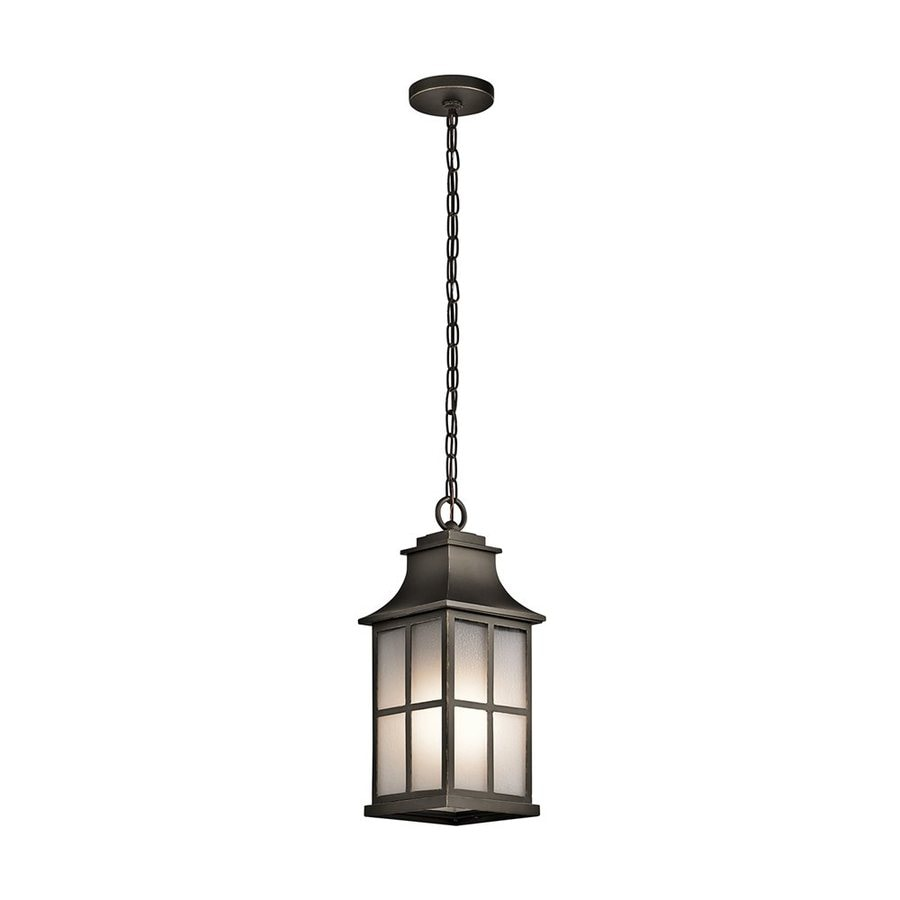 Kichler Pallerton Way 17.5-in Olde Bronze Outdoor Pendant Light