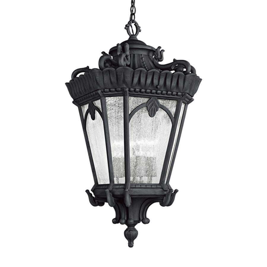 Kichler Tournai 33.5-in Textured Black Outdoor Pendant Light