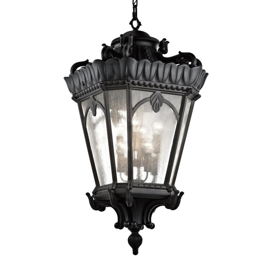 Kichler Lighting Tournai 47.5-in Textured Black Outdoor Pendant Light