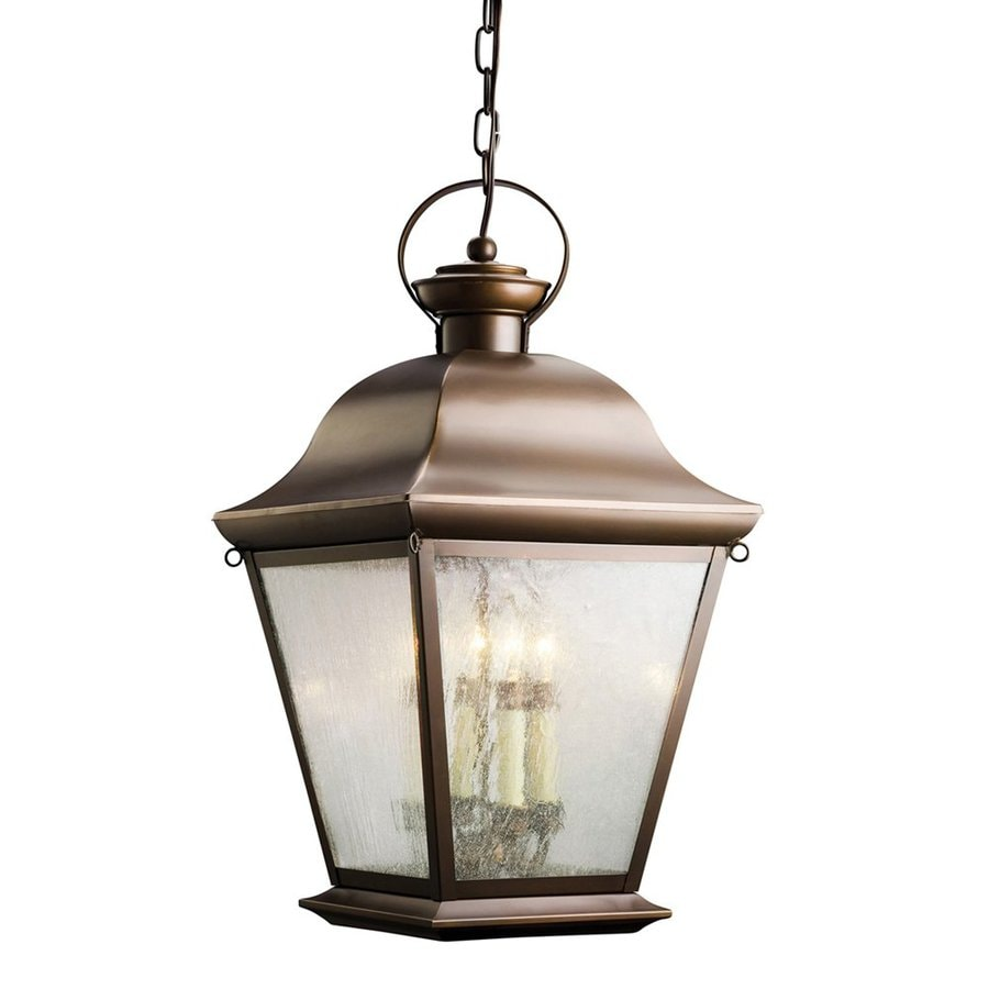 Kichler Lighting Mount Vernon 26-in Olde Bronze Outdoor Pendant Light