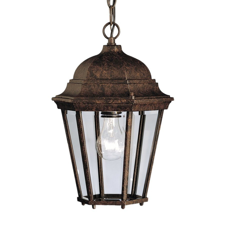 Kichler Madison 13.5-in Tannery Bronze Outdoor Pendant Light