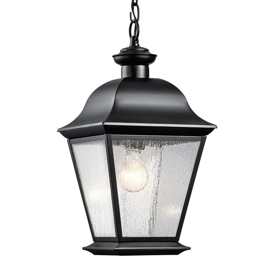Kichler Mount Vernon 18.5-in Black Outdoor Pendant Light