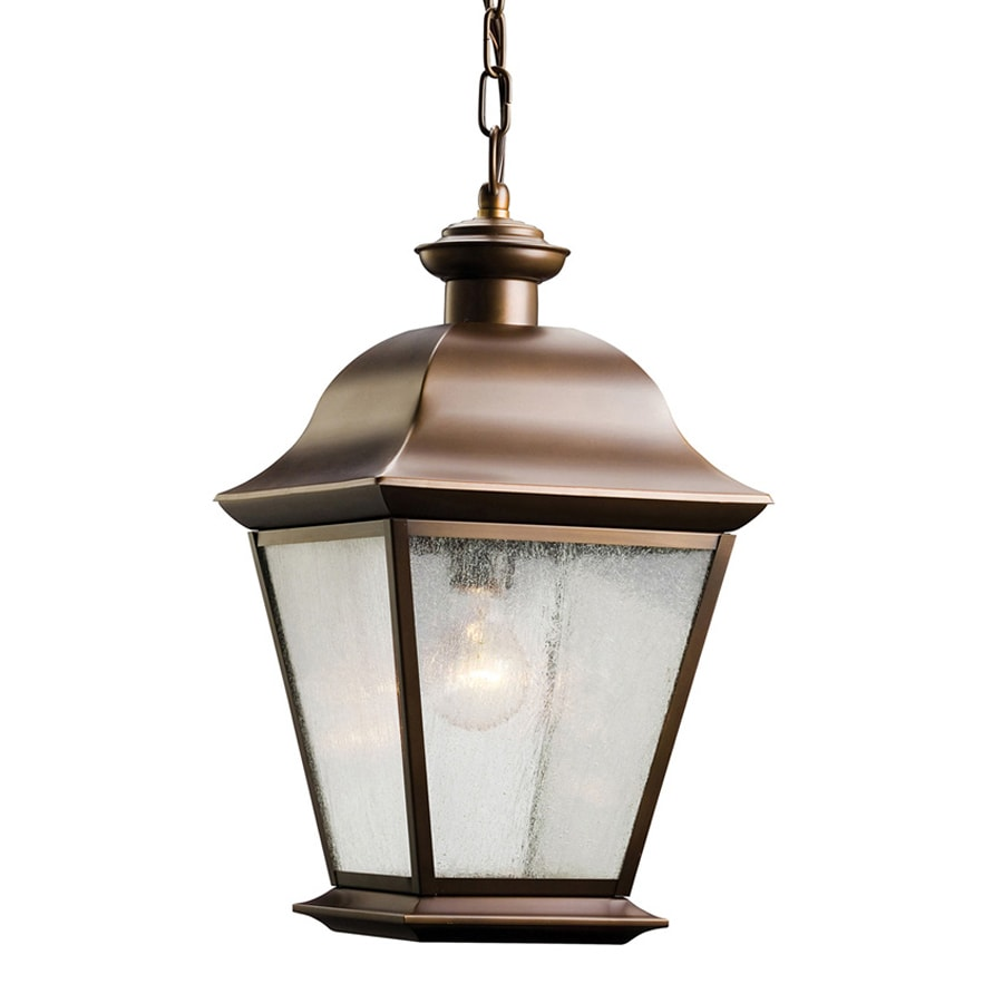 Outdoor Lantern Pendant Lighting : Kichler mount vernon in olde bronze outdoor