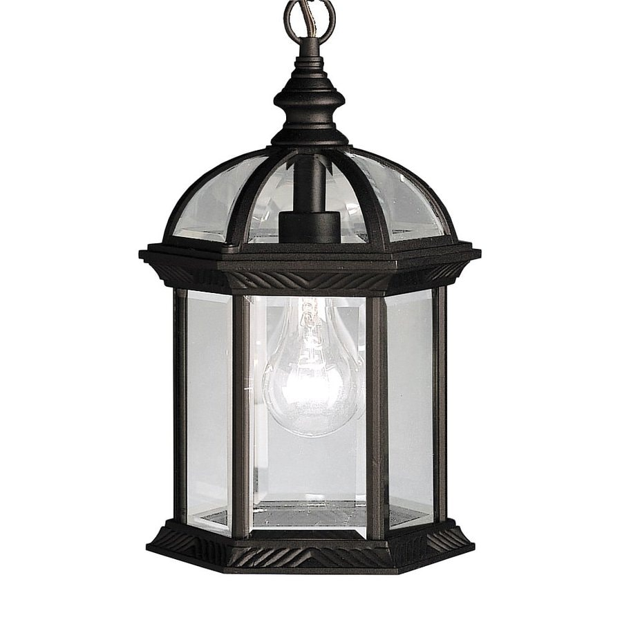 Shop Kichler New Street 13 5 In Black Outdoor Pendant Light At