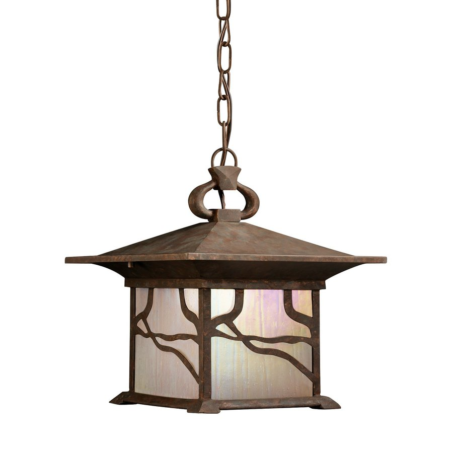 Kichler Morris 12.75-in Distressed Copper Outdoor Pendant Light