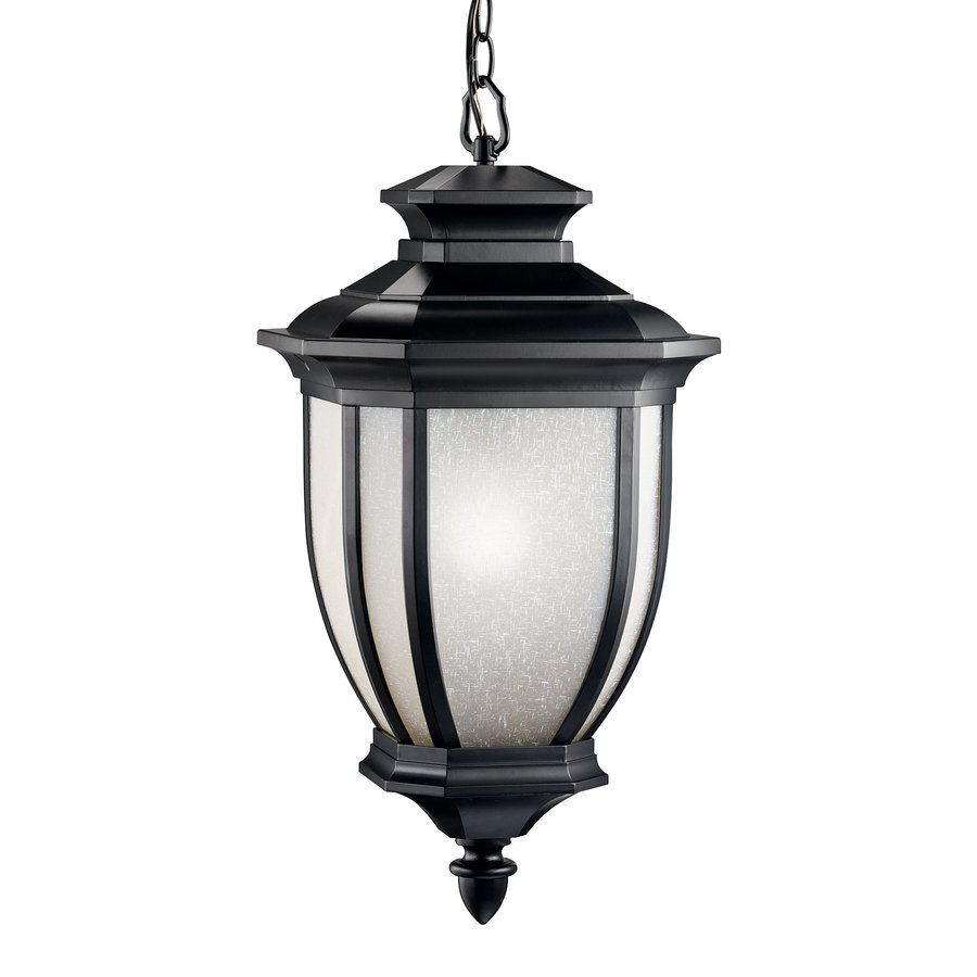 Outdoor Hanging Lanterns Lowes: Kichler Salisbury Black Traditional Lantern Pendant At