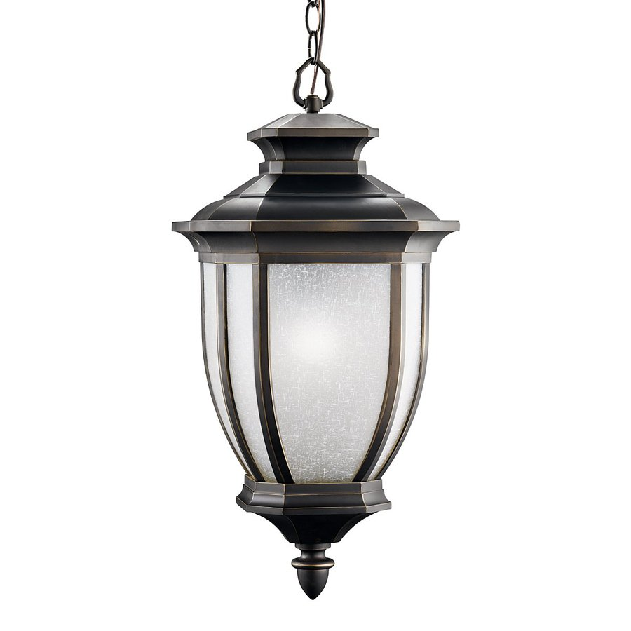 Kichler Lighting Salisbury 25-in Rubbed Bronze Outdoor Pendant Light