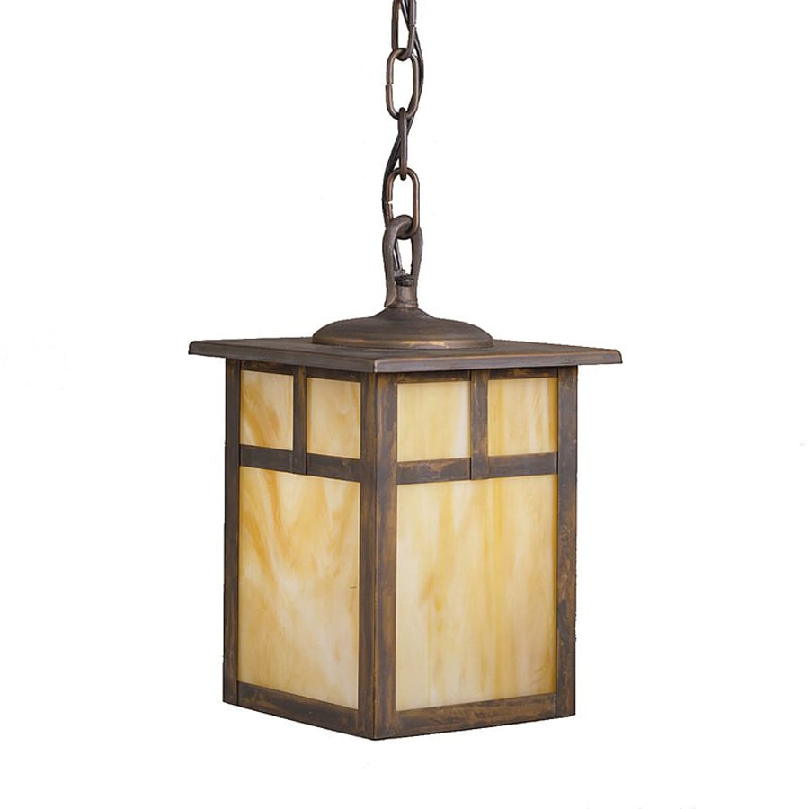 Shop kichler alameda 11 in canyon view outdoor pendant for Outdoor hanging porch lights