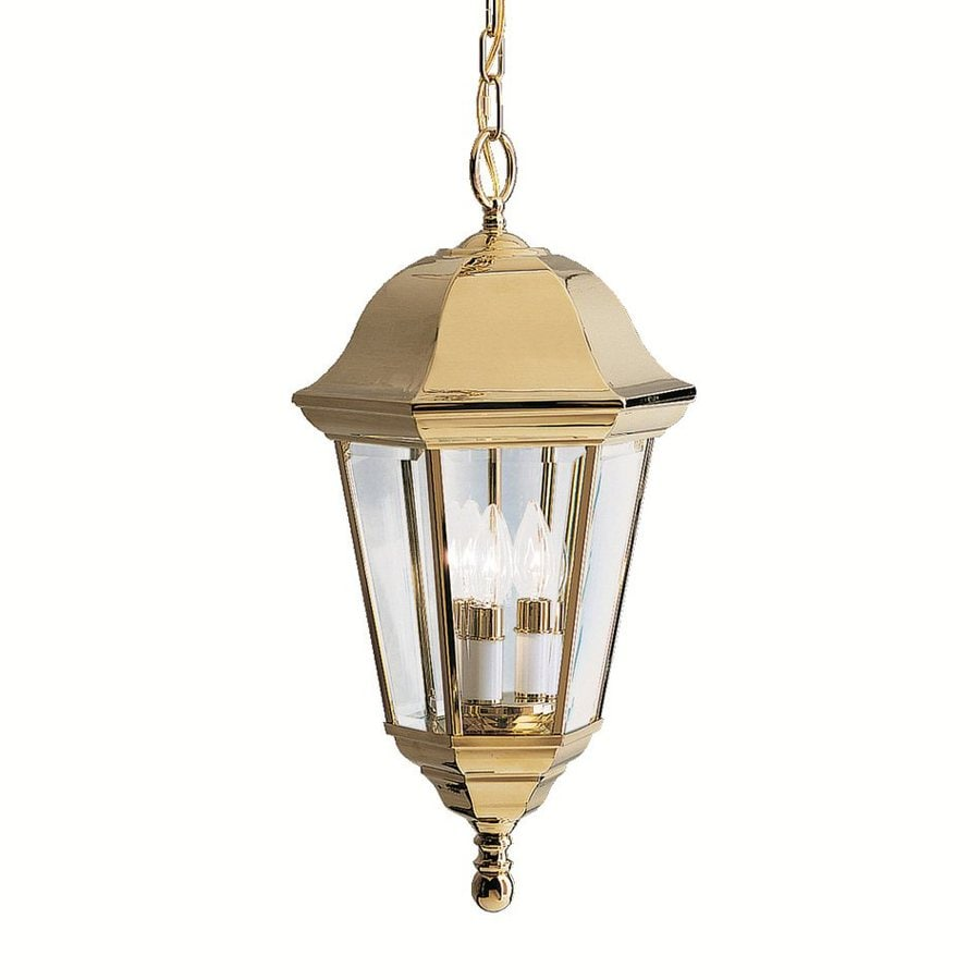 Kichler Lifebright Family 1 21.5-in Polished Brass Outdoor Pendant Light