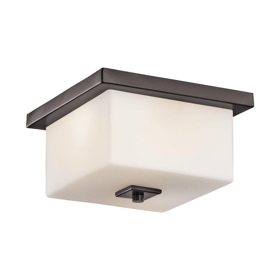 Kichler Bowen 11-in W Architectural Bronze Outdoor Flush-Mount Light