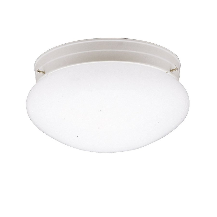 Shop kichler ceiling space 925 in w white flush mount for Flush mount white ceiling light
