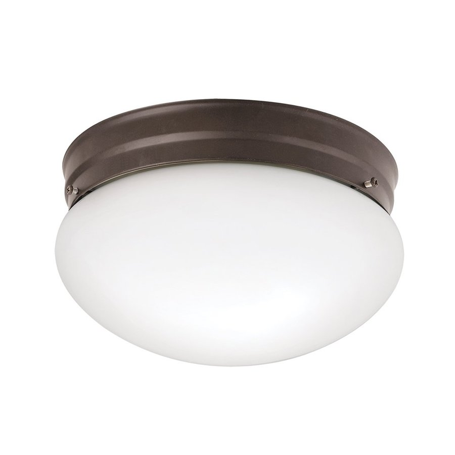 Kichler Ceiling Space 9.25-in W Olde Bronze Flush Mount Light
