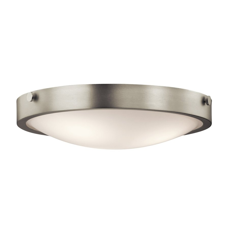 Kichler Lytham 17.5-in W Brushed Nickel Flush Mount Light