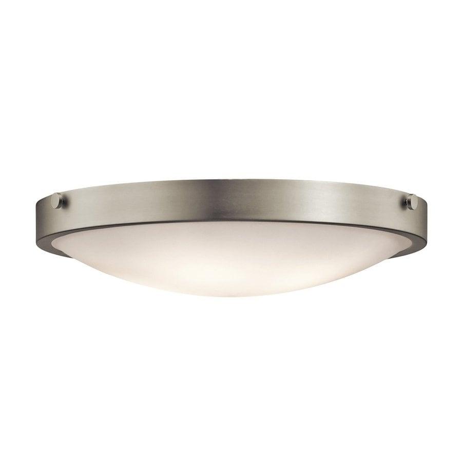 Kichler Lighting Lytham 20.5-in W Brushed Nickel Ceiling Flush Mount Light