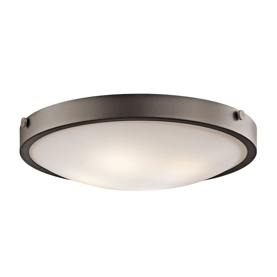 Kichler Lytham 20.5-in W Olde bronze Flush Mount Light