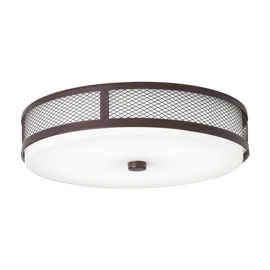 Kichler 13.25-in W Olde Bronze LED Flush Mount Light