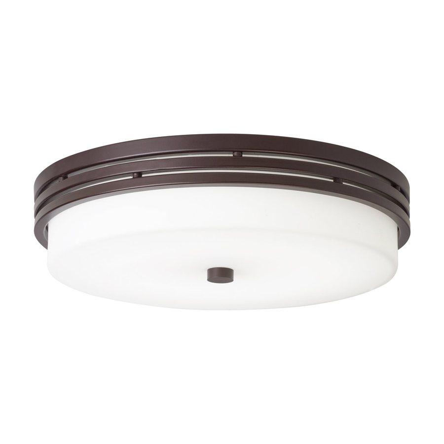 Shop Kichler 14-in W Olde bronze LED Flush Mount Light at ...