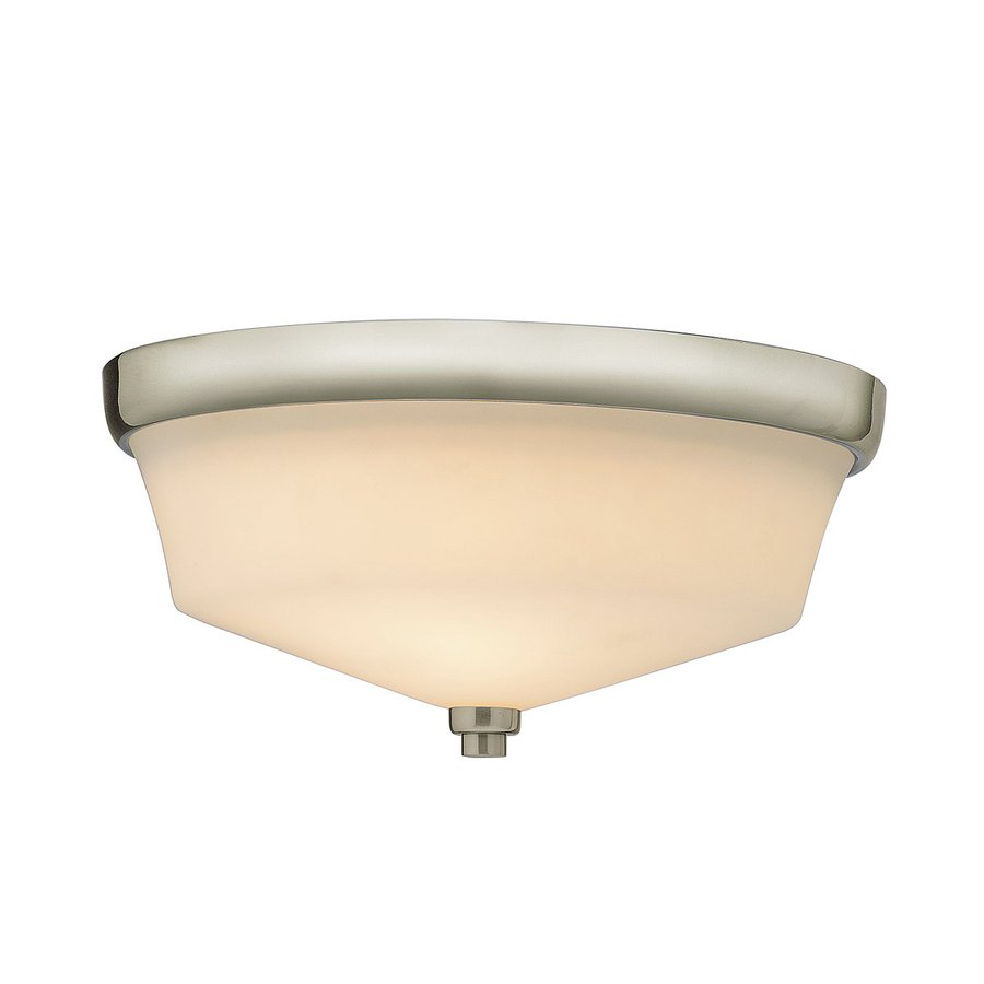 Kichler Langford 13-in W Brushed nickel Flush Mount Light