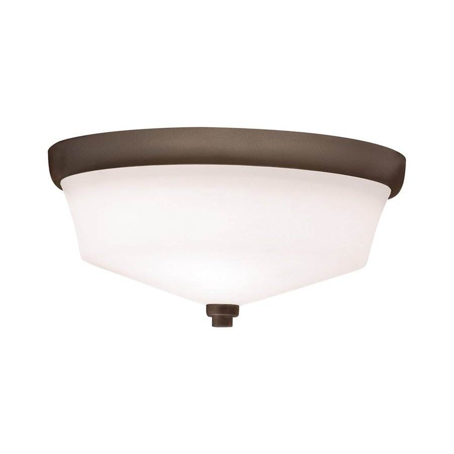 Kichler Langford 13-in W Olde bronze Flush Mount Light