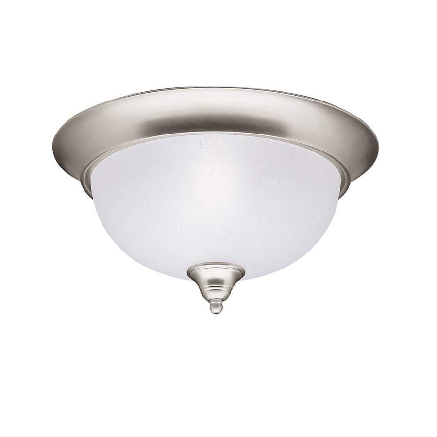 Kichler Dover 13.25-in W Brushed Nickel Flush Mount Light