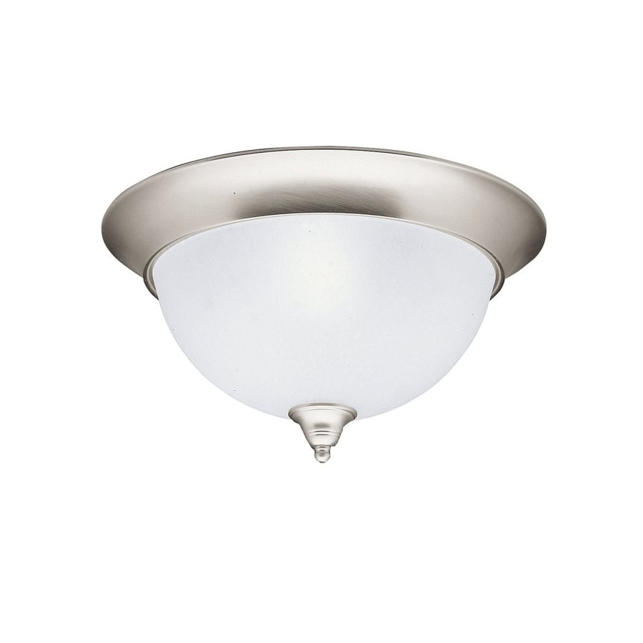 Kichler Dover 15.25-in W Brushed nickel Flush Mount Light