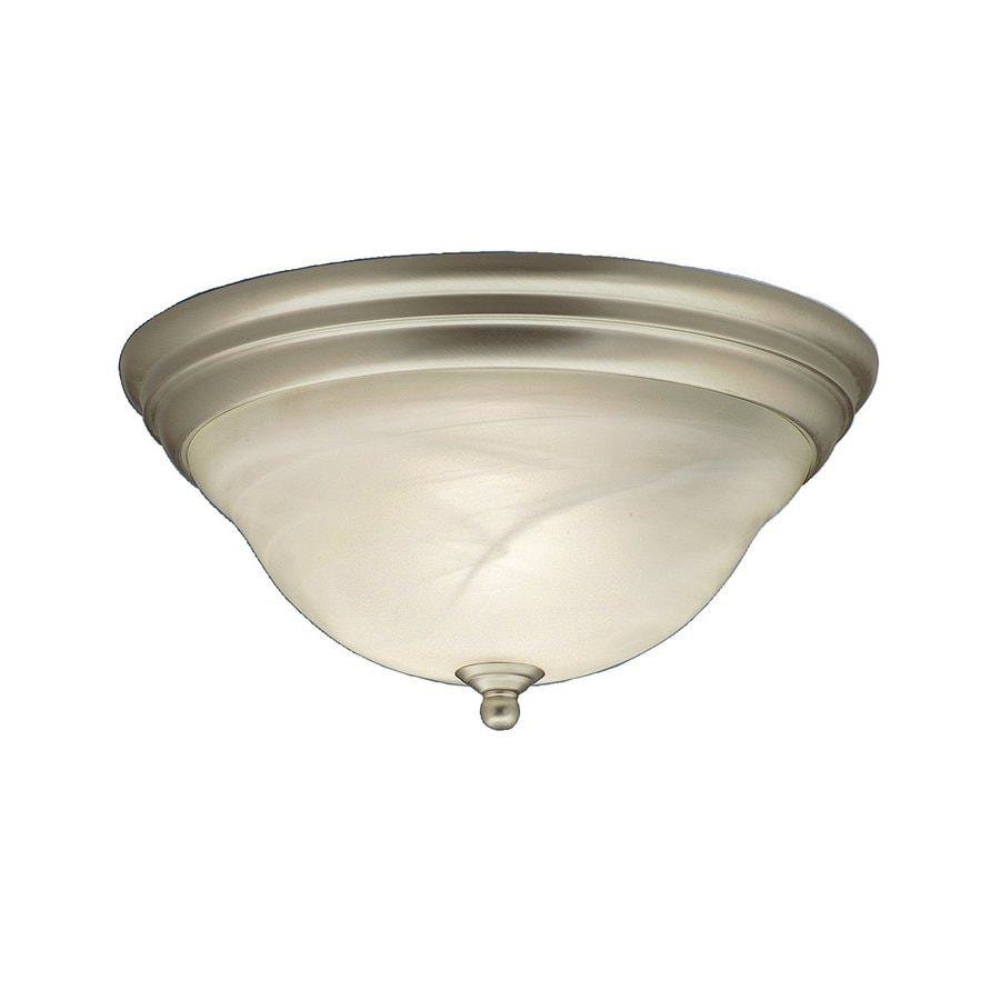 Kichler Telford 14-in W Brushed Nickel Flush Mount Light